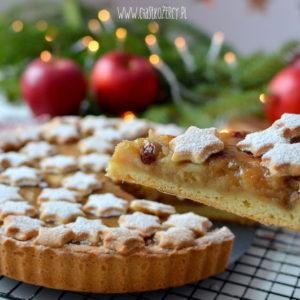 Zimowa tarta z jabłkami