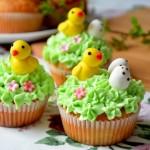 Wielkanocne babeczki z kurczaczkami