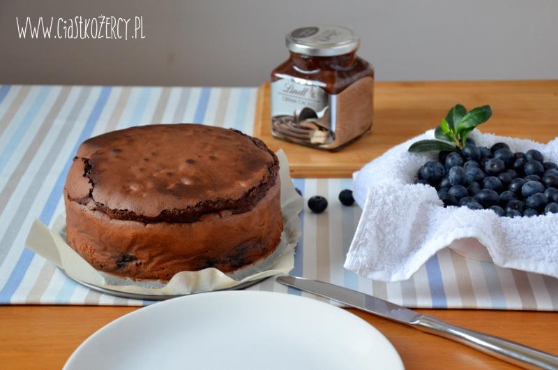 torcik brownie z borówkami
