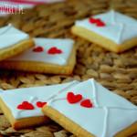 Walentynkowe ciasteczka listy