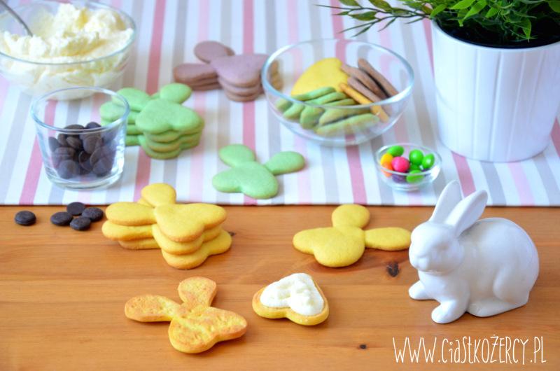 Wielkanocne ciasteczka zajączki 10