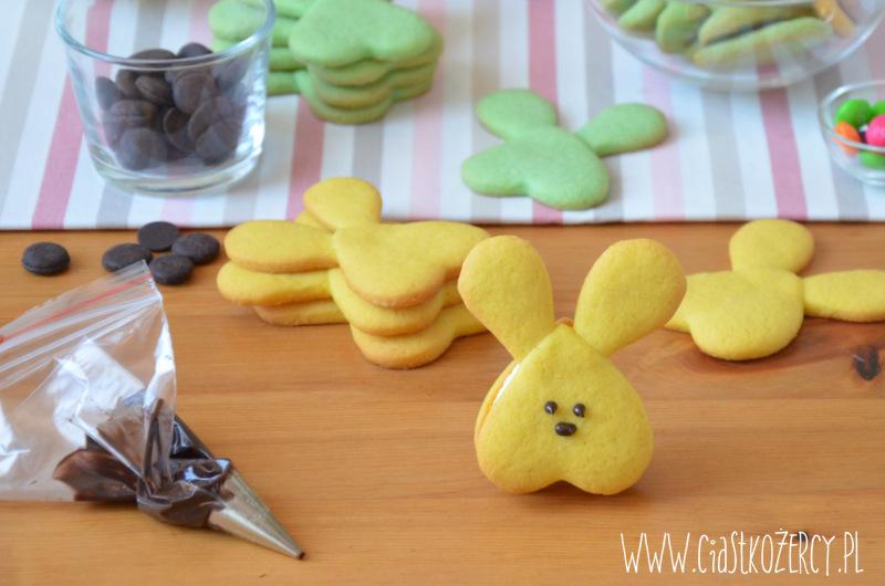 Wielkanocne ciasteczka zajączki 12