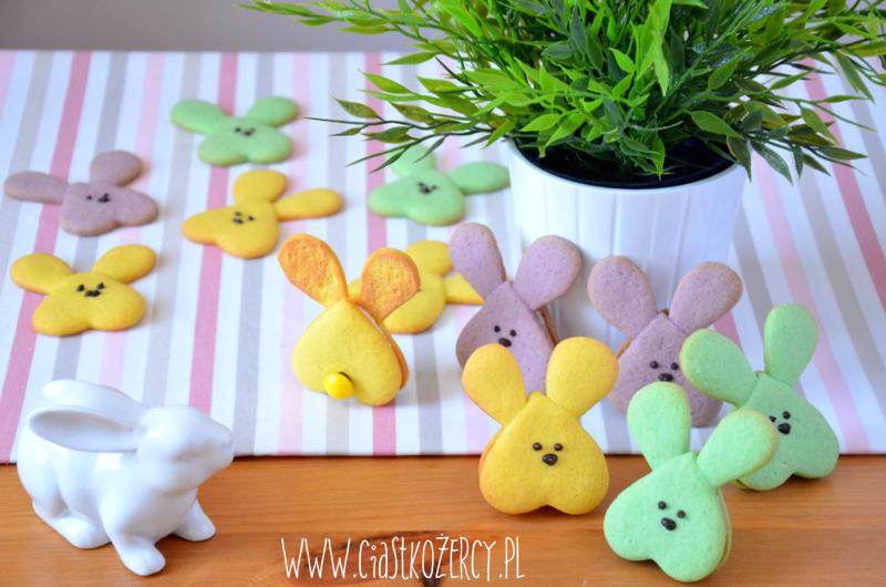 Wielkanocne ciasteczka zajączki 14