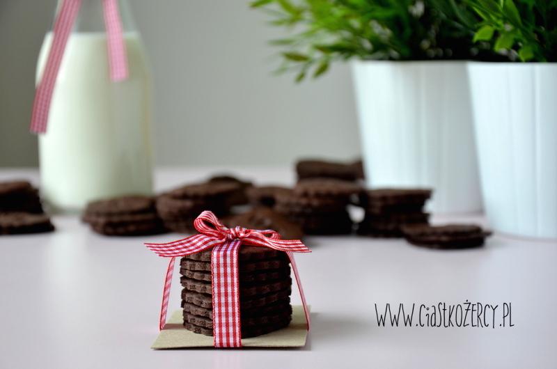 Kruche ciasteczka czekoladowe 16