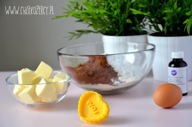 Kruche ciasteczka czekoladowe 2