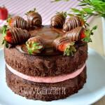 Truskawkowe naked cake