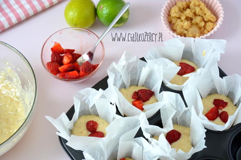 Muffinki truskawkowe 6