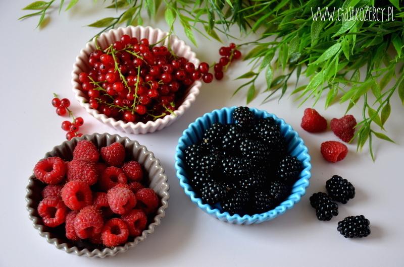 Czekoladowe miseczki z owocami 1
