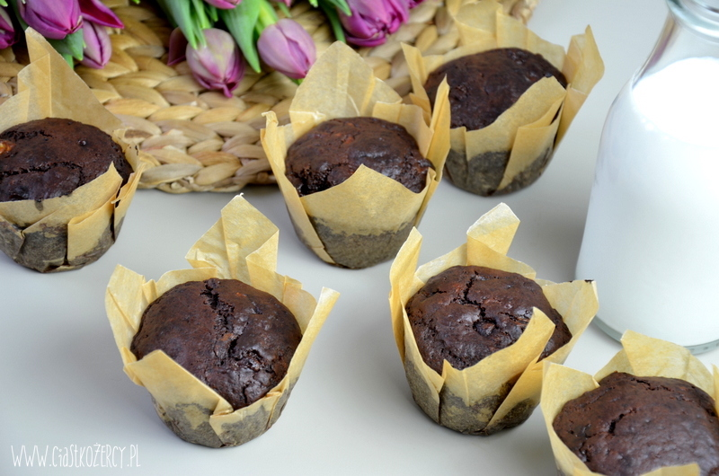 Muffinki bananowo czekoladowe 11
