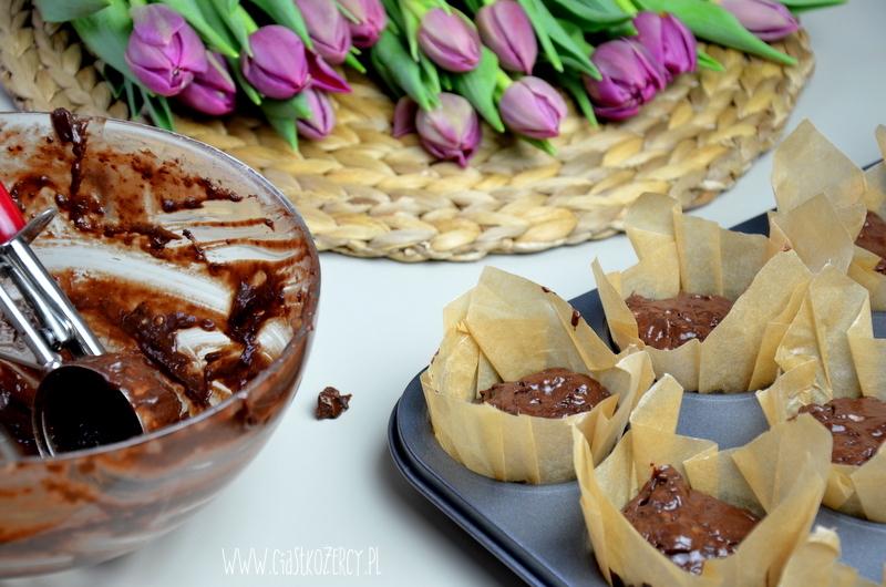Muffinki bananowo czekoladowe 7