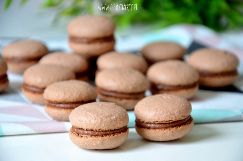 czekoladowe makaroniki