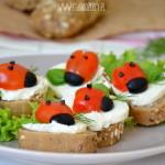 Śniadanie dla malucha – kanapki biedronki