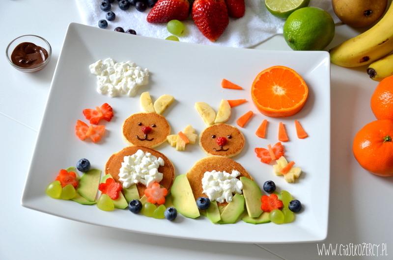 Śniadanie dla malucha - naleśniki zajączki 2