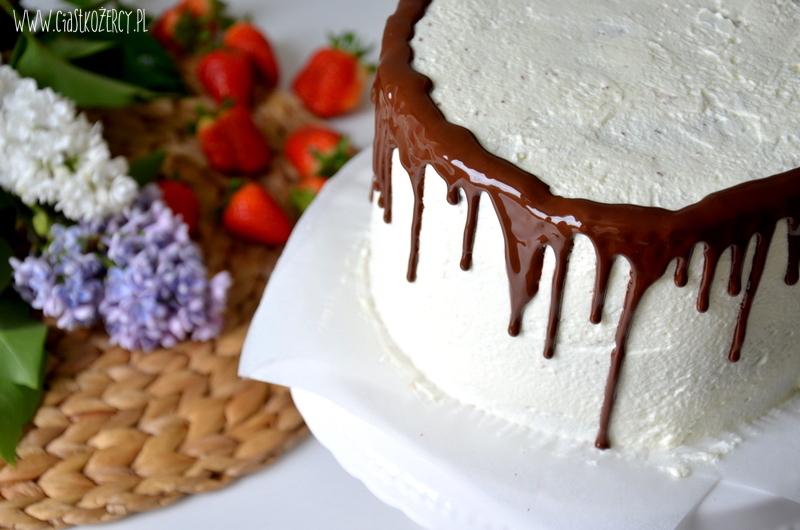 Tort truskawkowo czekoladowy 11