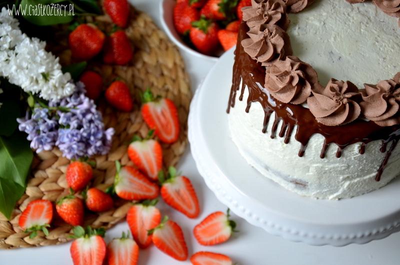 Tort truskawkowo czekoladowy 15