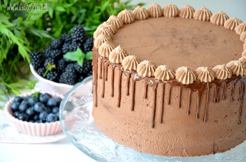 Czekoladowy tort z jeżynami krok po kroku