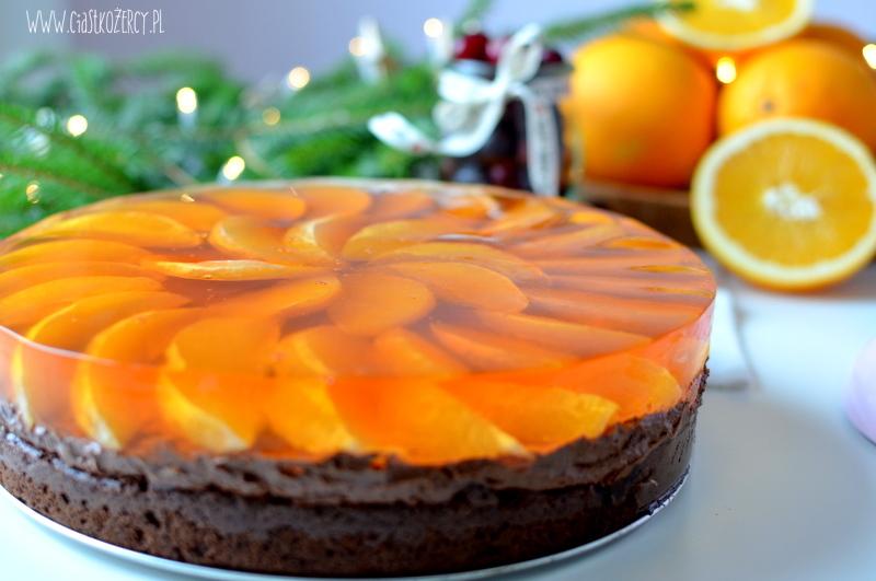 torcik czekoladowo pomarańczowy